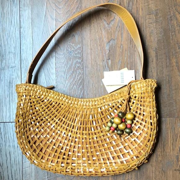 Coldwater Creek woven charm hobo purse NWT 0c12330510eda